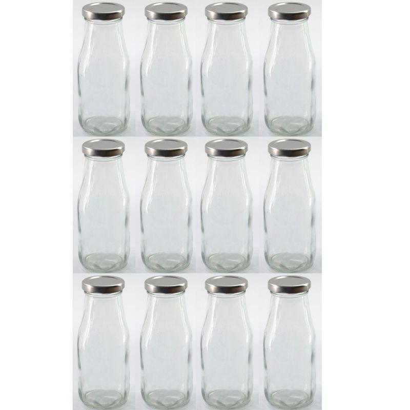 12 st ck trinkflaschen glas mit schraubverschluss 300ml glasflaschen saftflasche ebay. Black Bedroom Furniture Sets. Home Design Ideas